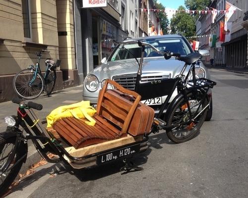 SCO Long John Lastenrad mit Ladefläche bike rental in Neuss