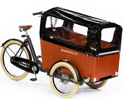 Bakfiets Cruiser Wide elektro  bike rental in Düsseldorf