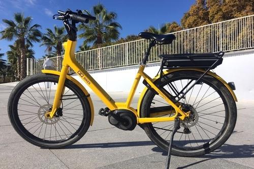 Alquiler de bicicletas QQ E-City en Málaga